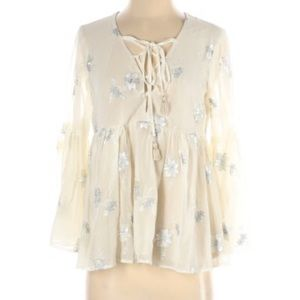 Show Me Your Mumu Pheasant Blouse with Bell Sleeve